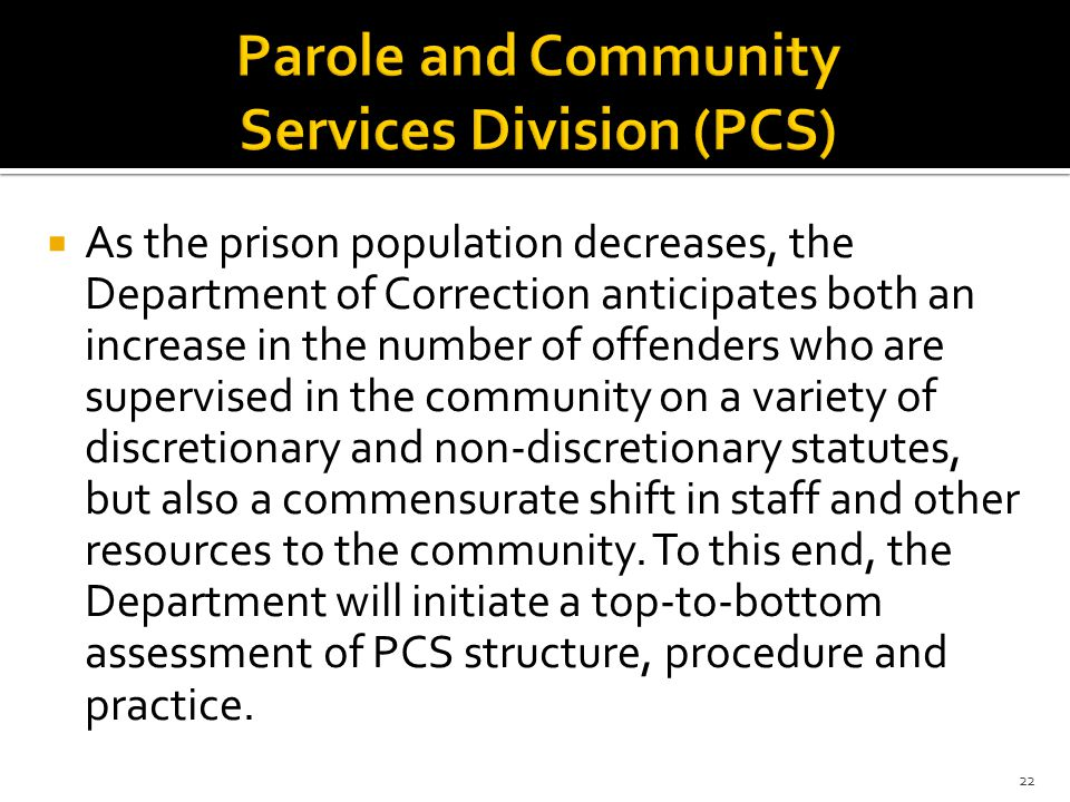 Parole and Community Services Division (PCS)