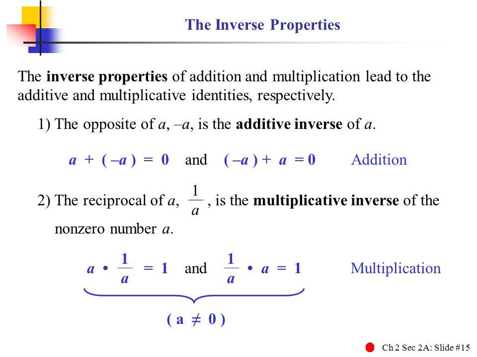 The Inverse Properties