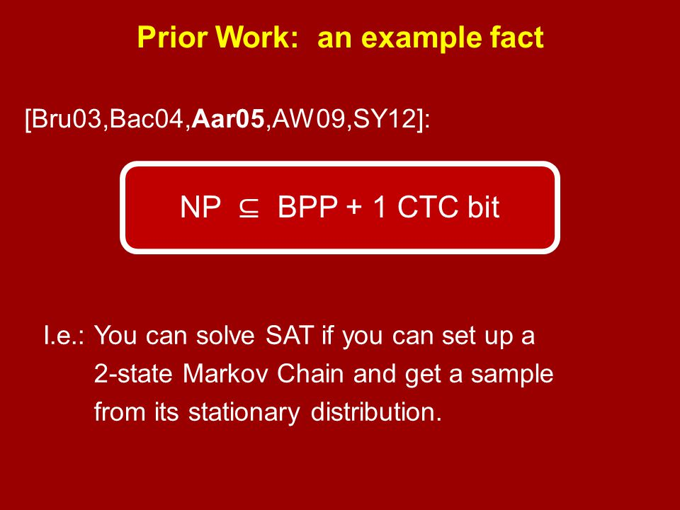 Prior Work: an example fact