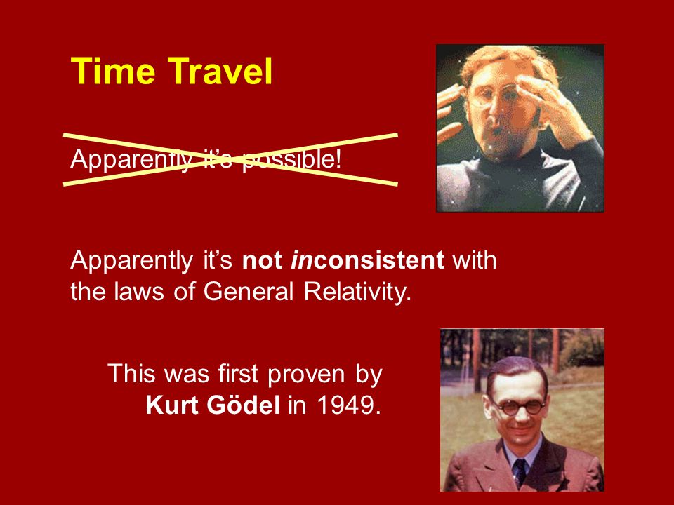 Time Travel Apparently it's possible!