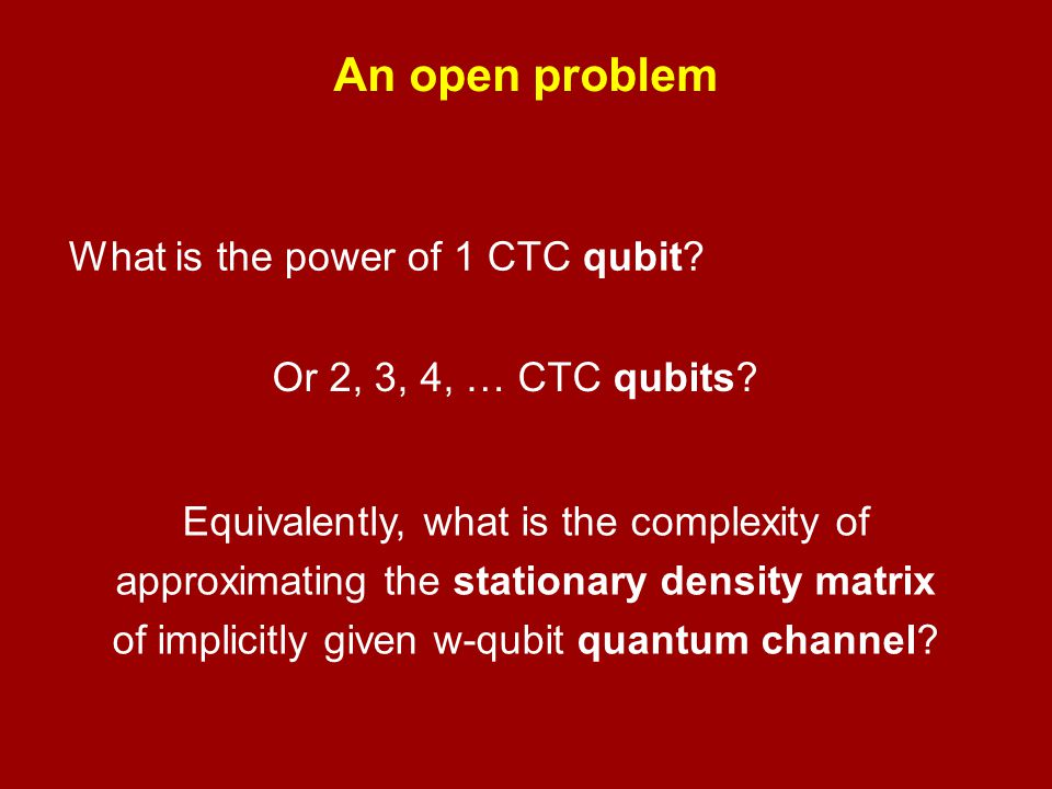 of implicitly given w-qubit quantum channel