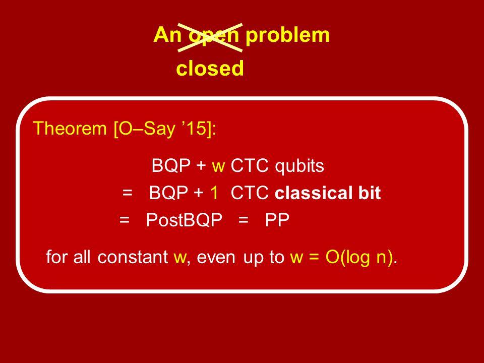 = BQP + 1 CTC classical bit