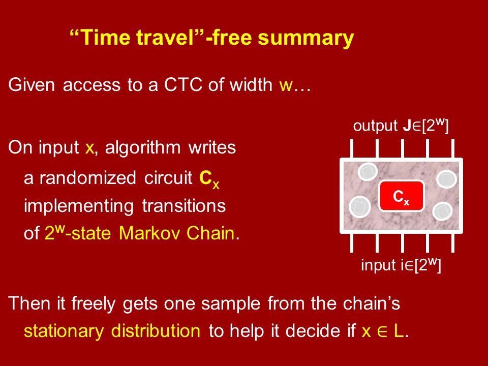 Time travel -free summary