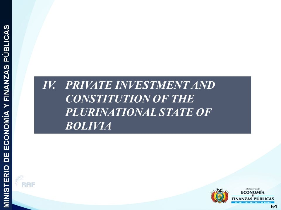 IV. PRIVATE INVESTMENT AND