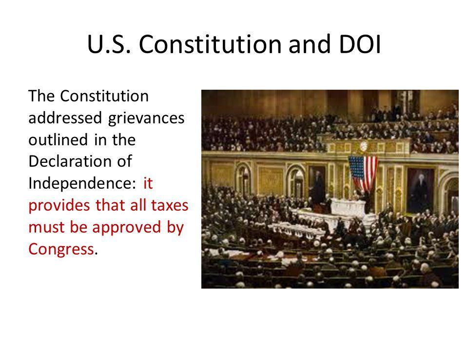 U.S. Constitution and DOI