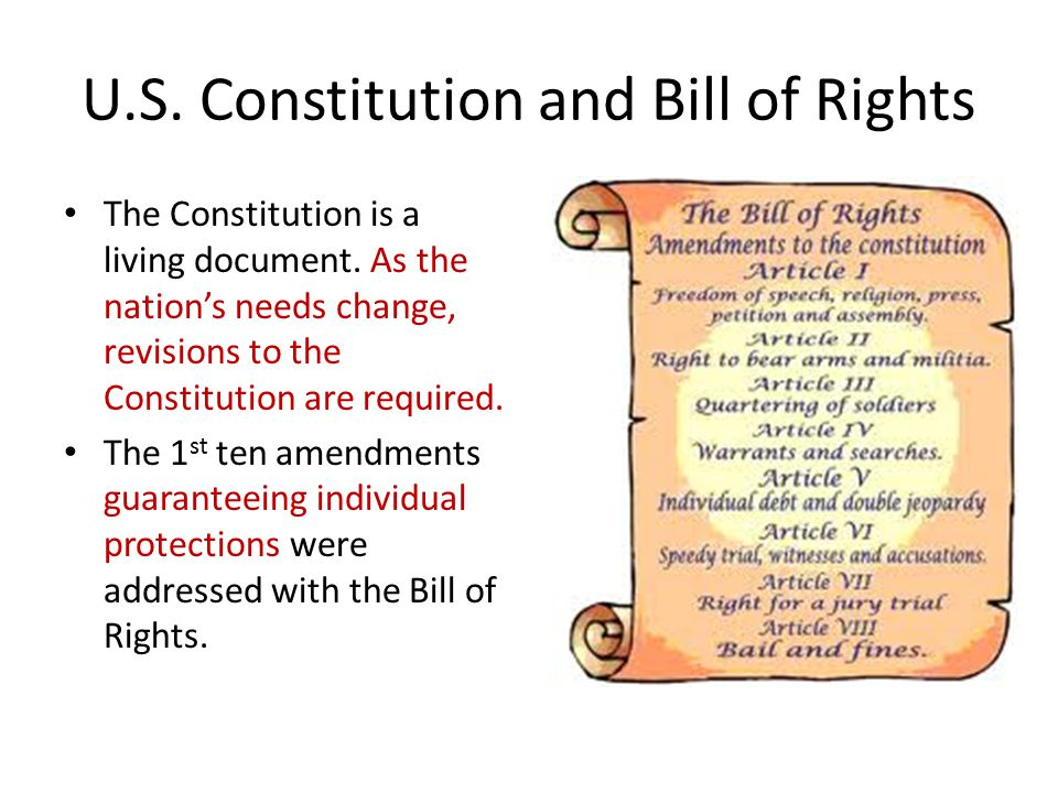 U.S. Constitution and Bill of Rights