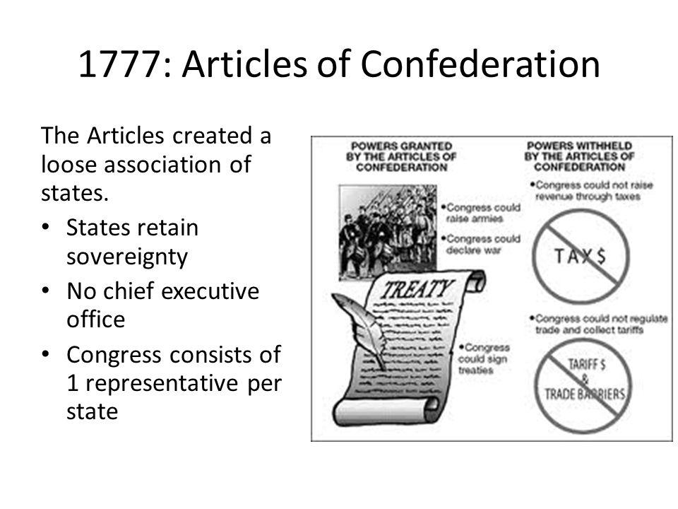 1777: Articles of Confederation