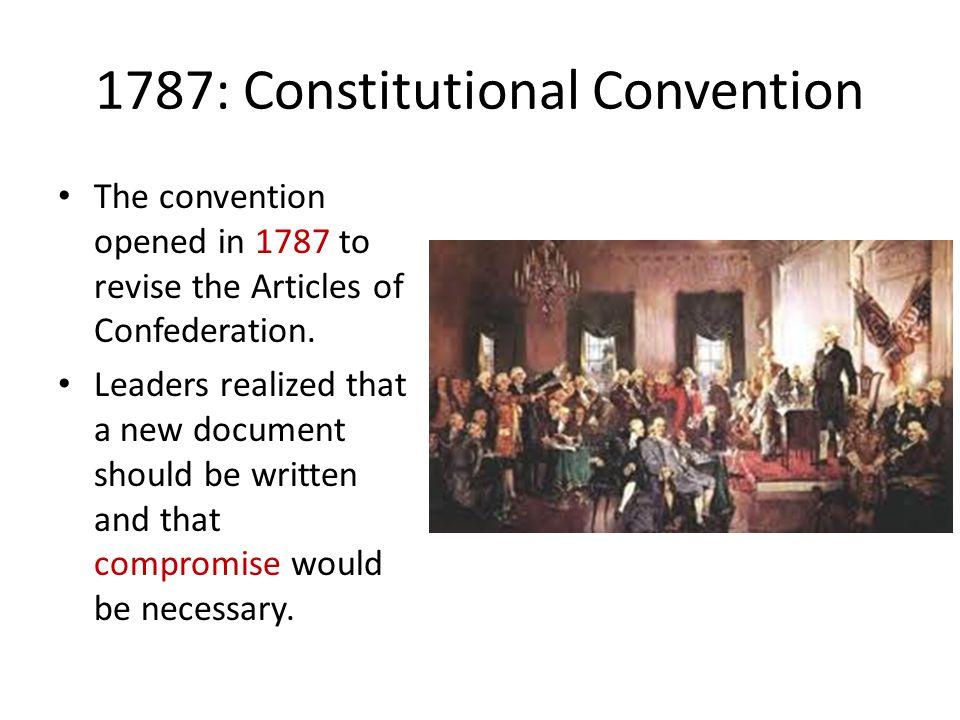 1787: Constitutional Convention
