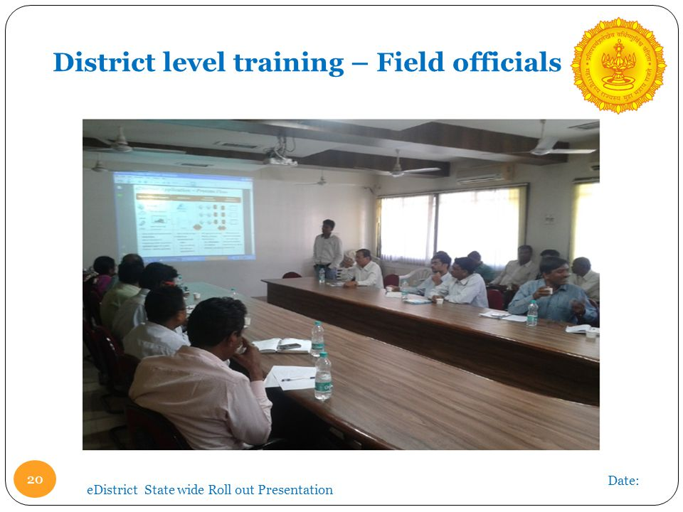 District level training – Field officials