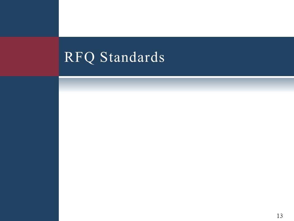RFQ Standards 13