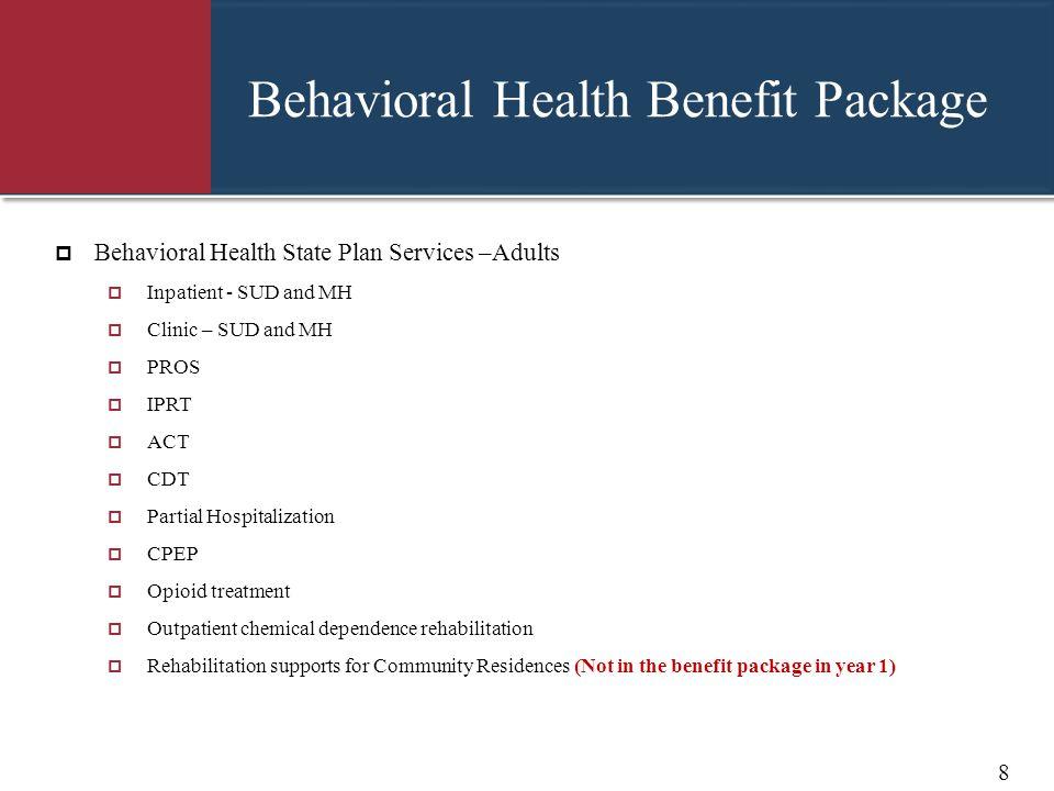 Behavioral Health Benefit Package