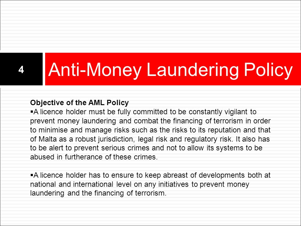 Anti-Money Laundering Policy