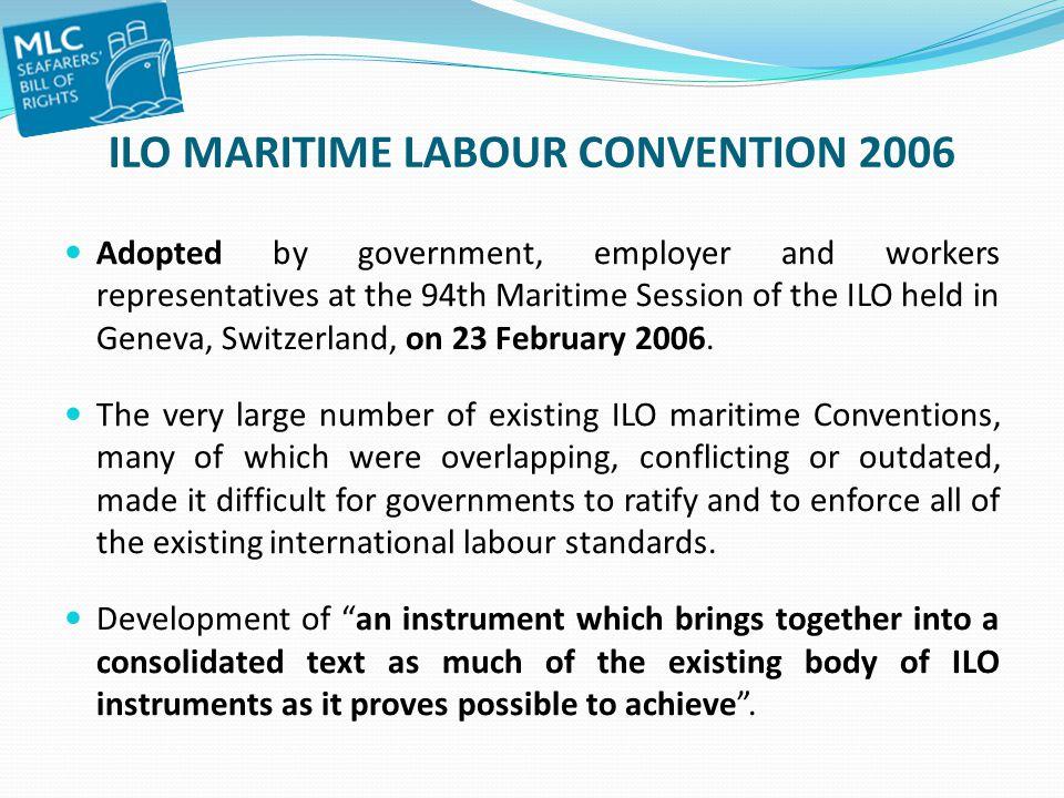 ILO MARITIME LABOUR CONVENTION 2006