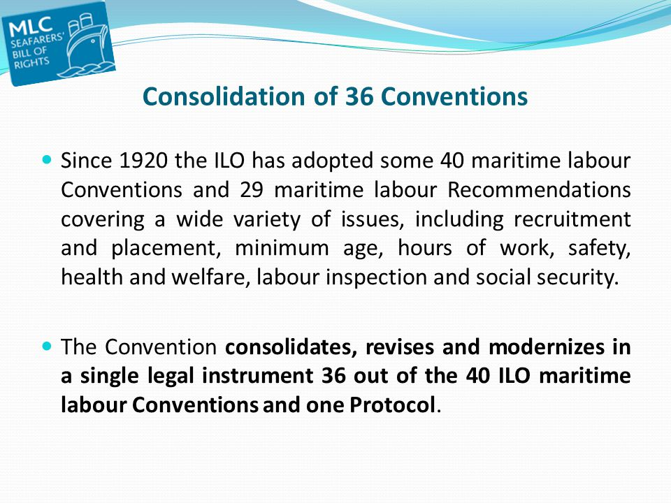 Consolidation of 36 Conventions