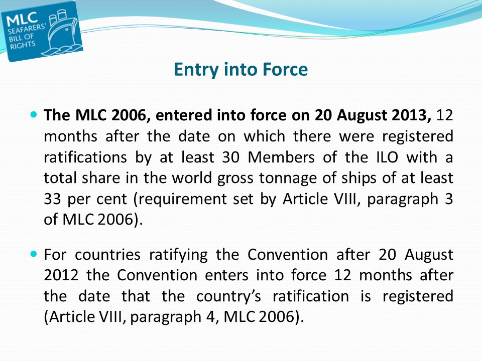 Entry into Force