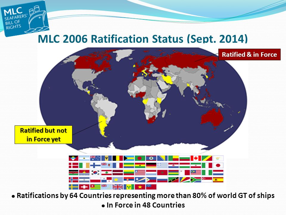 MLC 2006 Ratification Status (Sept. 2014)