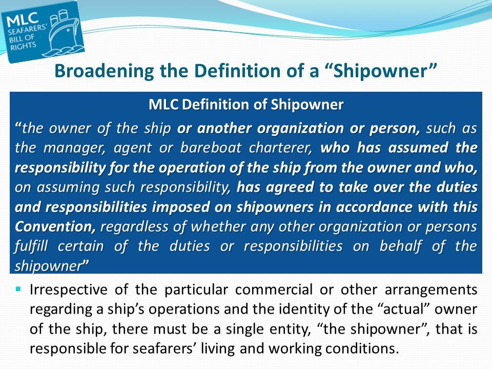 Broadening the Definition of a Shipowner