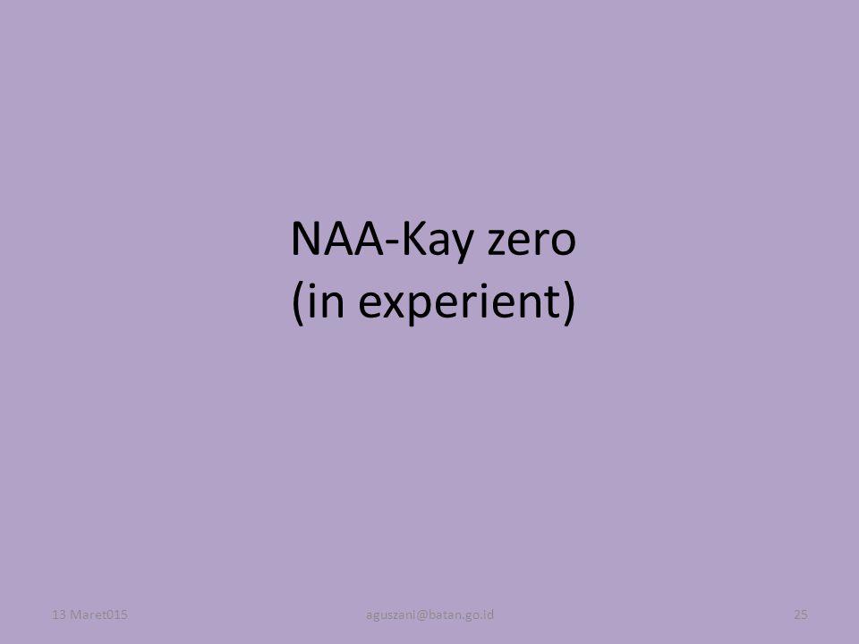 NAA-Kay zero (in experient)