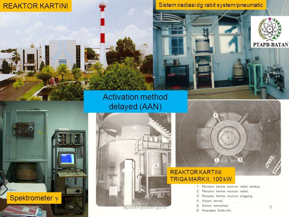Activation method delayed (AAN) REAKTOR KARTINI Spektrometer 