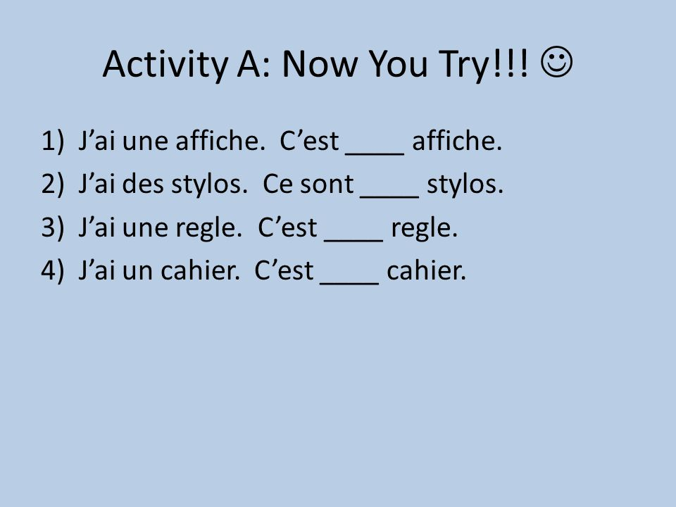 Activity A: Now You Try!!! 