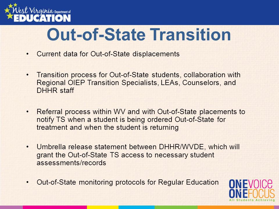 Out-of-State Transition