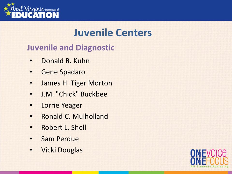 Juvenile Centers Juvenile and Diagnostic Donald R. Kuhn Gene Spadaro