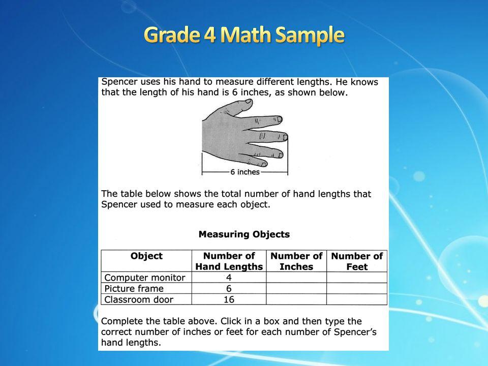 Grade 4 Math Sample