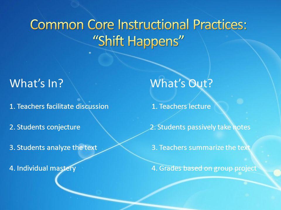 Common Core Instructional Practices: Shift Happens