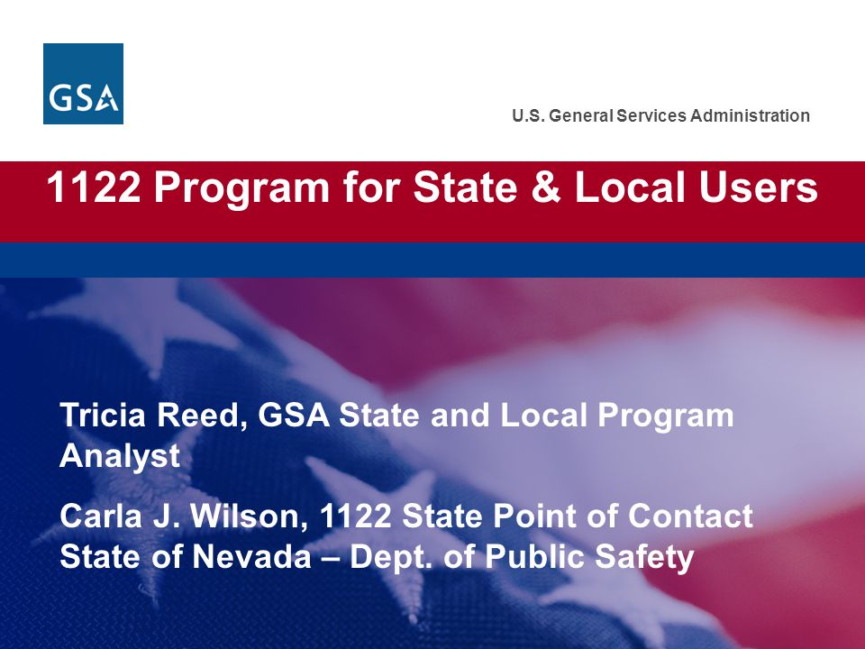 1122 Program for State & Local Users