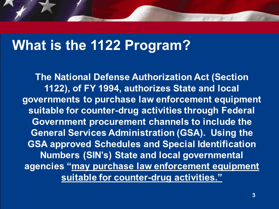 What is the 1122 Program