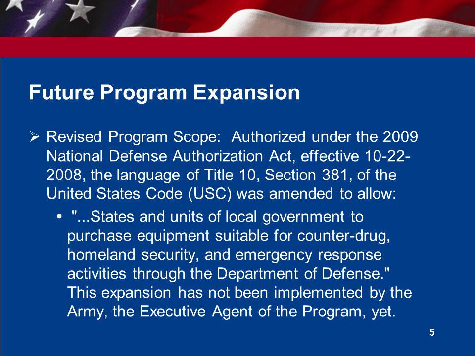 Future Program Expansion