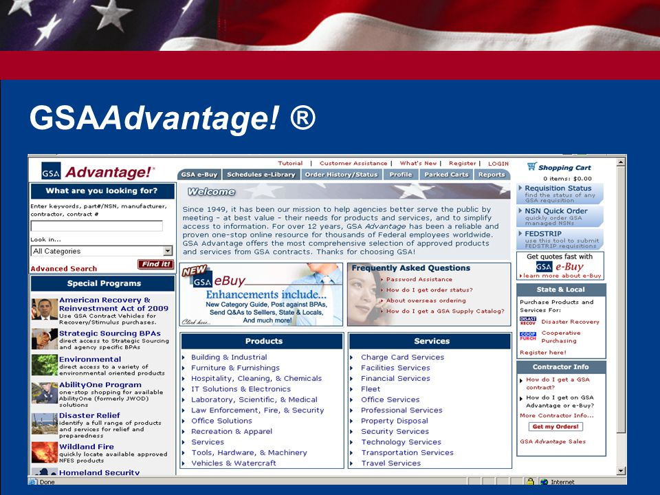 GSAAdvantage! ®