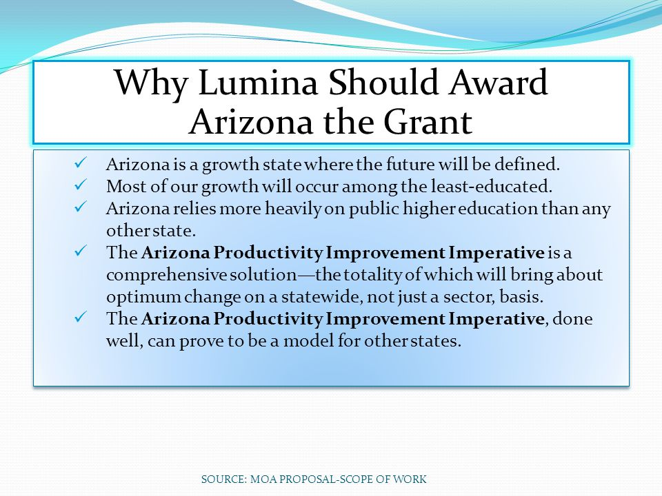 Why Lumina Should Award Arizona the Grant