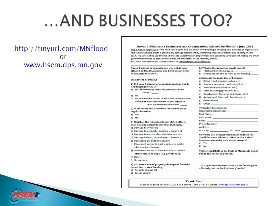 …AND BUSINESSES TOO http://tinyurl.com/MNflood or www.hsem.dps.mn.gov