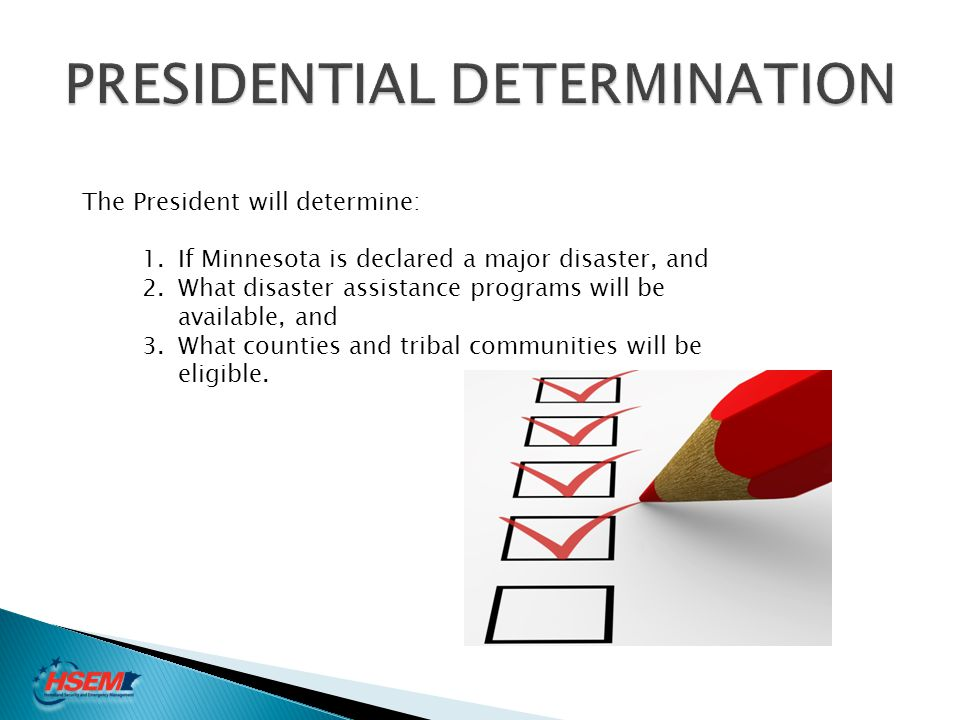PRESIDENTIAL DETERMINATION