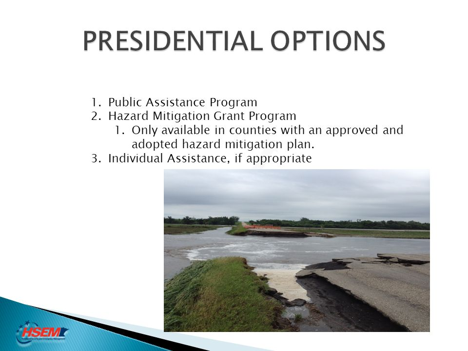 PRESIDENTIAL OPTIONS Public Assistance Program