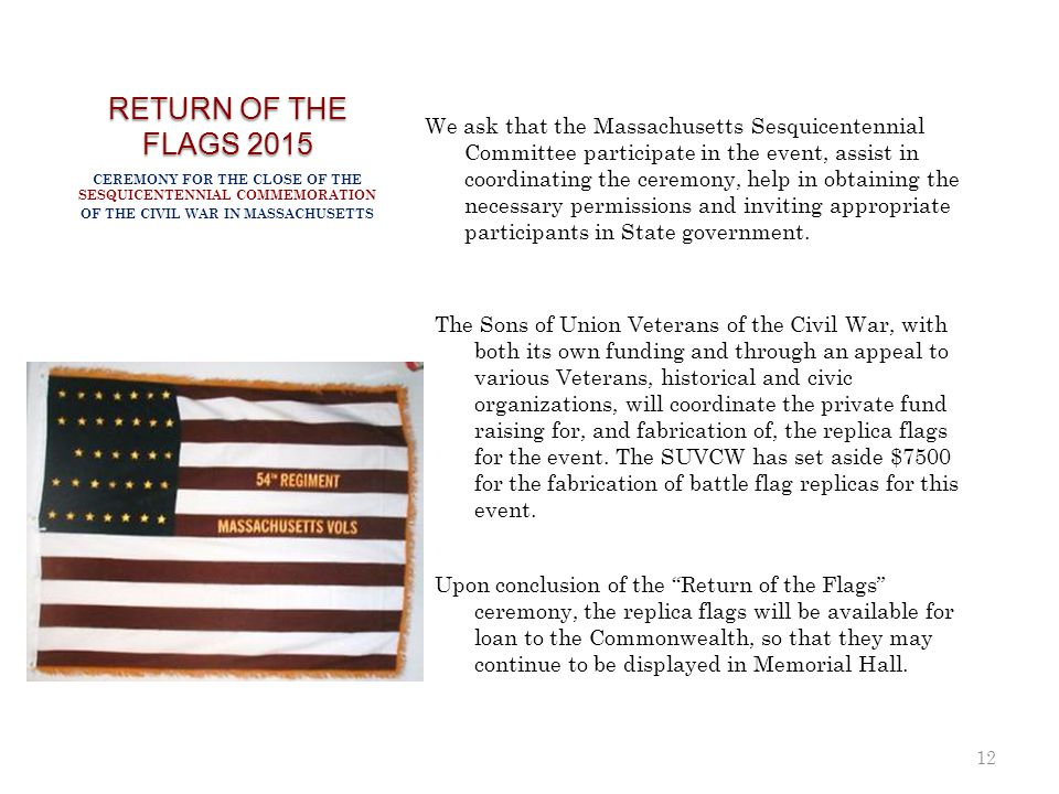 RETURN OF THE FLAGS 2015