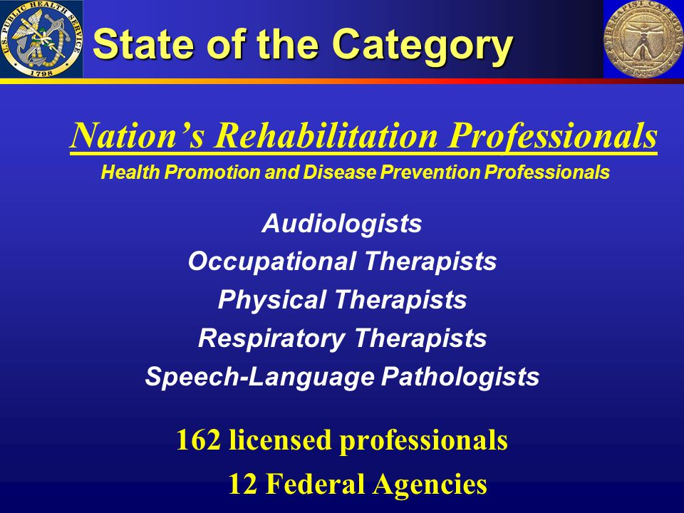 State of the Category Nation's Rehabilitation Professionals