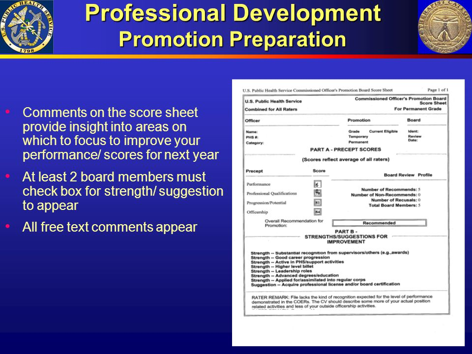 Professional Development Promotion Preparation