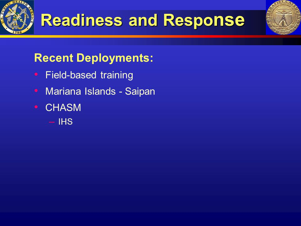 Readiness and Response