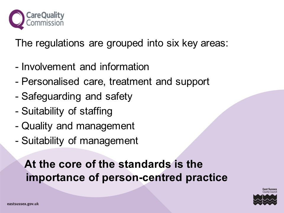 The regulations are grouped into six key areas: