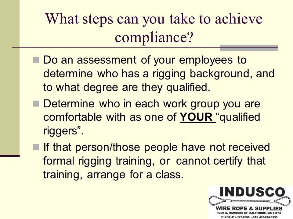 What steps can you take to achieve compliance