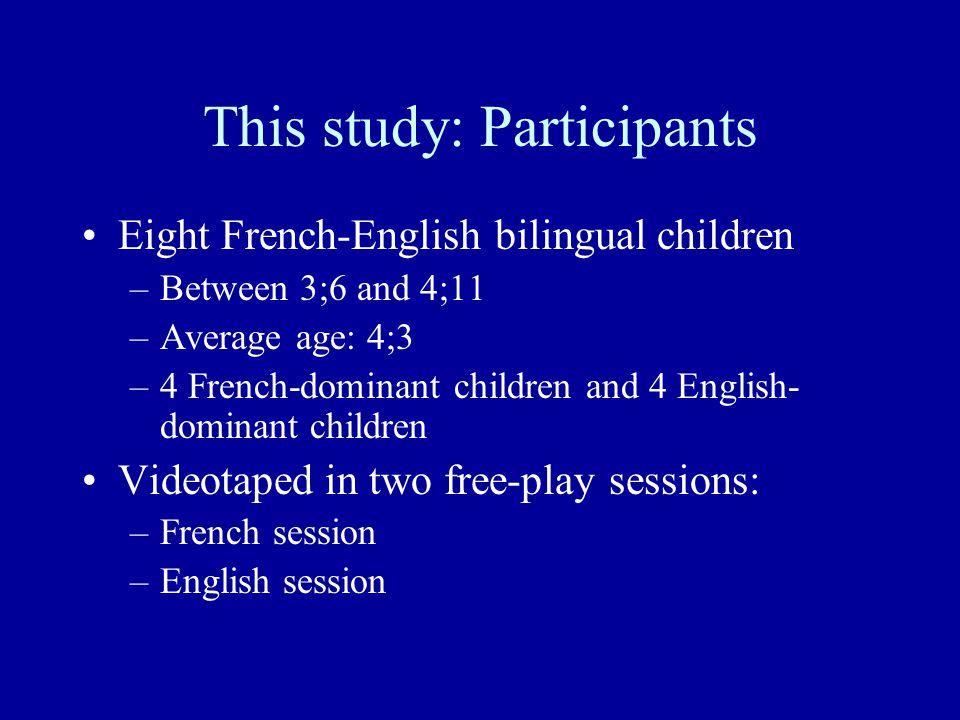 This study: Participants