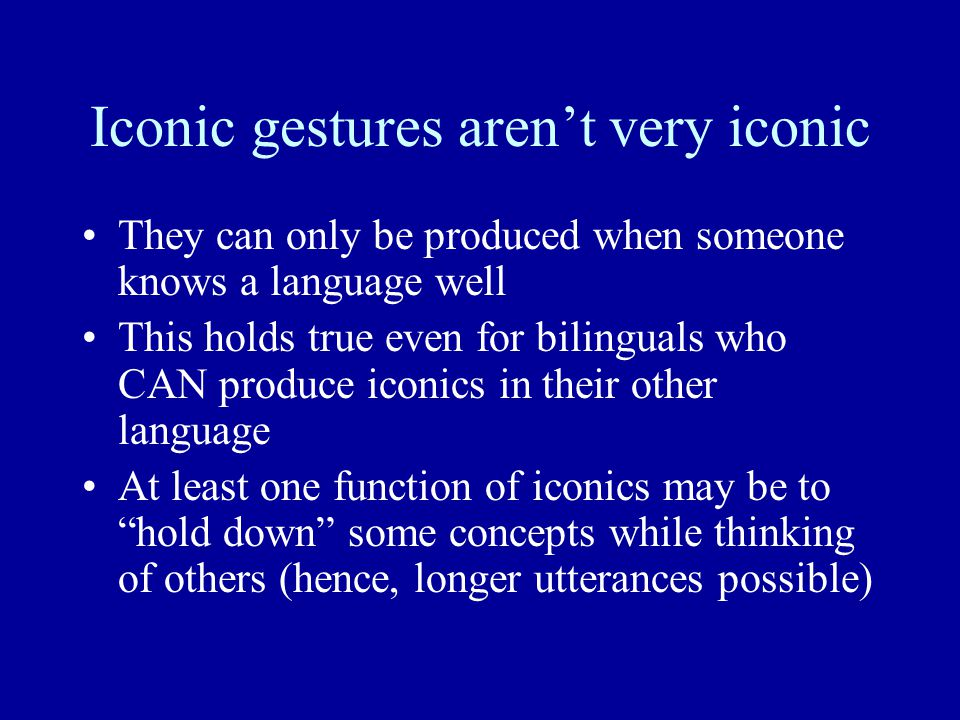 Iconic gestures aren't very iconic