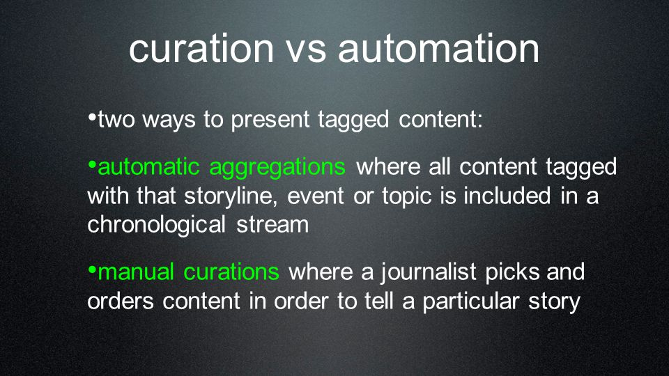 curation vs automation