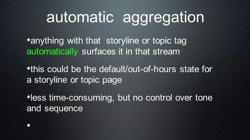 automatic aggregation