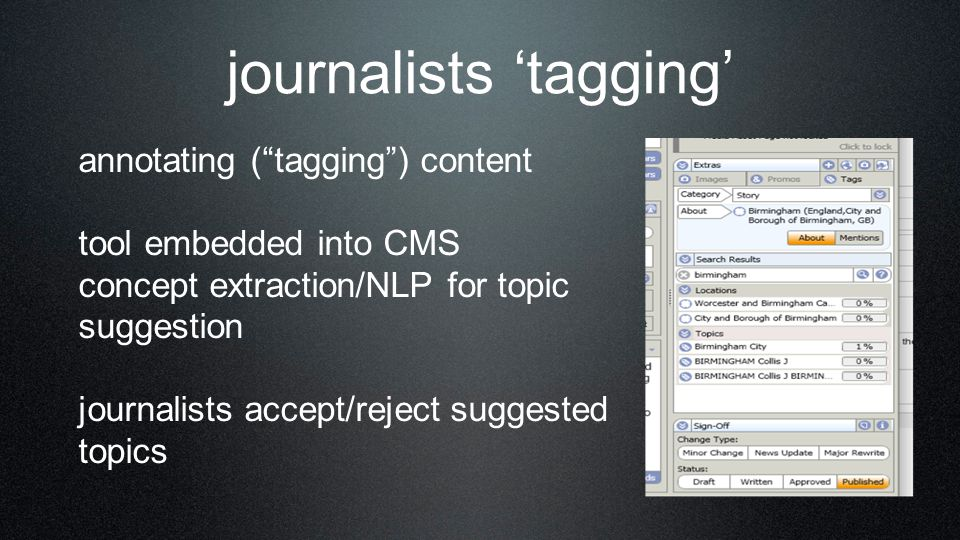 journalists 'tagging'