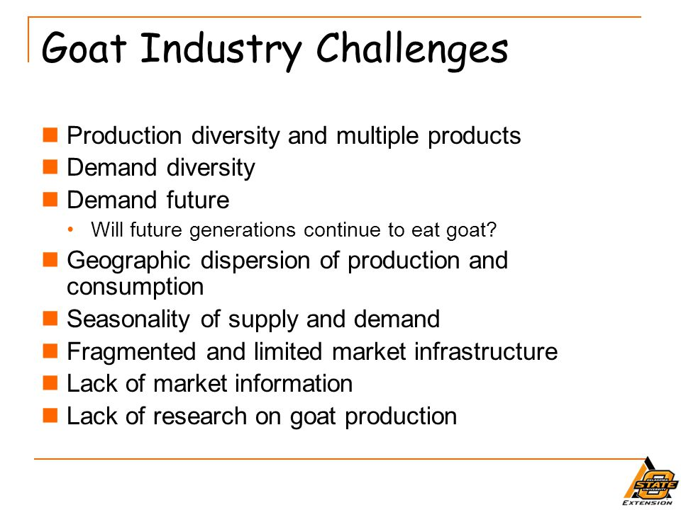 Goat Industry Challenges