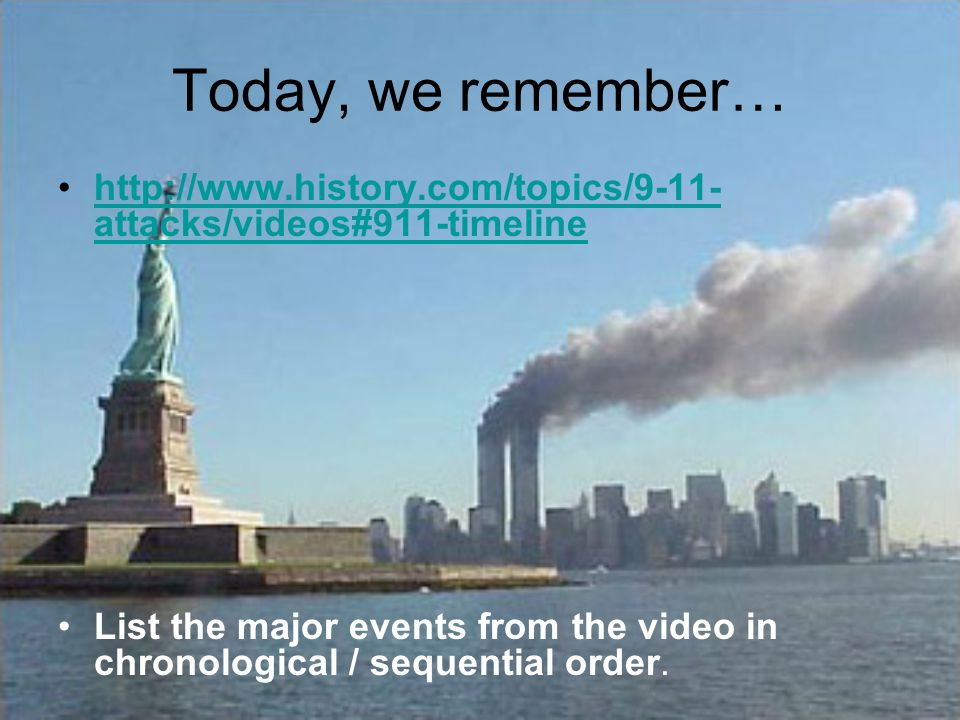 Today, we remember… http://www.history.com/topics/9-11-attacks/videos#911-timeline.