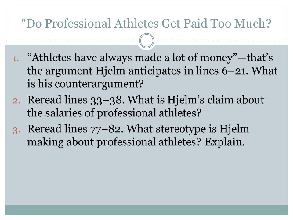 Do Professional Athletes Get Paid Too Much